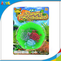 Hot sale new product 2014 small plastic toy cheap promotion jumping frog