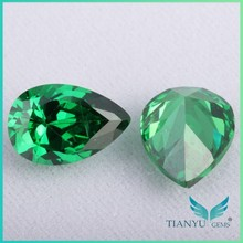 WuZhou Gems Pear Cut Gemstone Emerald Green Stone