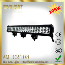 108W 17.2inch 9-32V pencil beam flood beam offroad CREE LED light bar