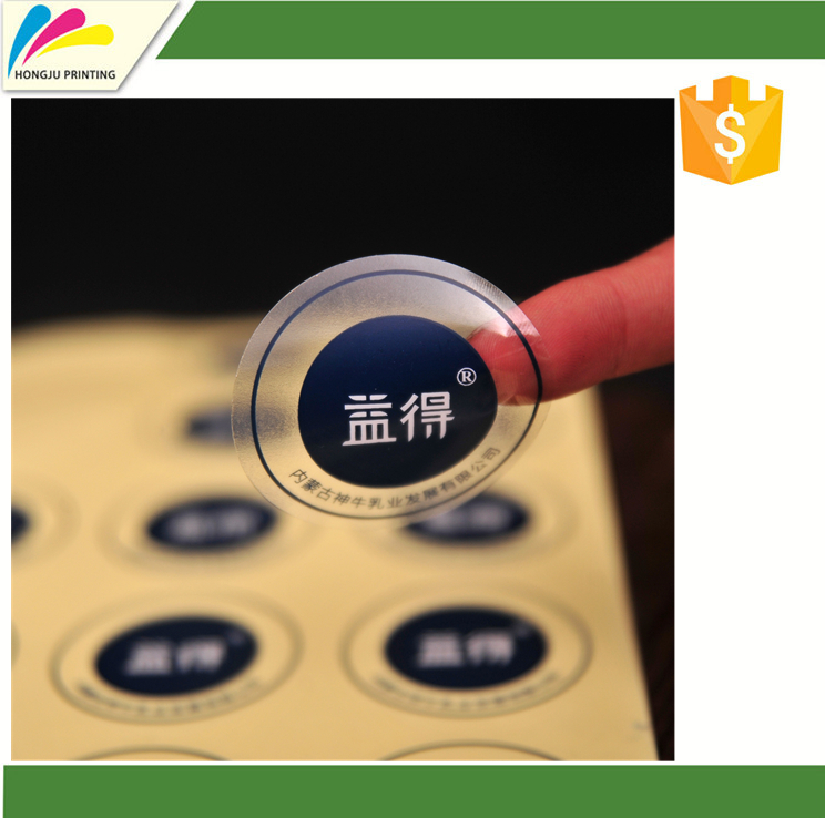 custom printing transparent label sticker