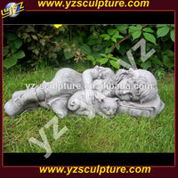 Lovely outdoor Garden Stone Statues Sculpture Of lying Child