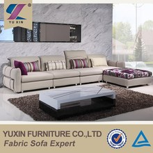 Modern furniture design high end fabric sectional sofa,fabric corner sofa set design