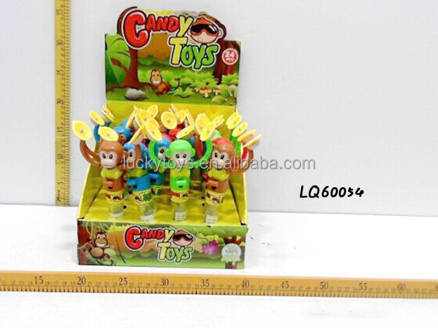 wind up monkey toys with candy sweet candy toy