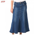 New design indian lady wholesale long denim skirts