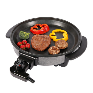 Round Electric Skillet/Mini Electric Frying Pan/ Electric Pizza Pan