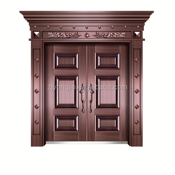 Cheap Surface imitate copper metal door