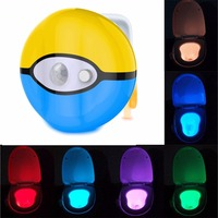2017 Shenzhen LED Toilet Night Light 7 Colors Changing motion activated toilet night light