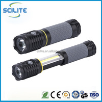 Extendable COB work light Aluminum Torch LED Flashlight Light with magnetic