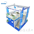 Detian Offer 20ft double deck exhibition stand from booth builder