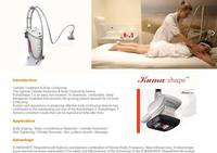 Infrared light Vacuum massages Kumashape new Bipolar RF body contouring equipment / body slimming machine