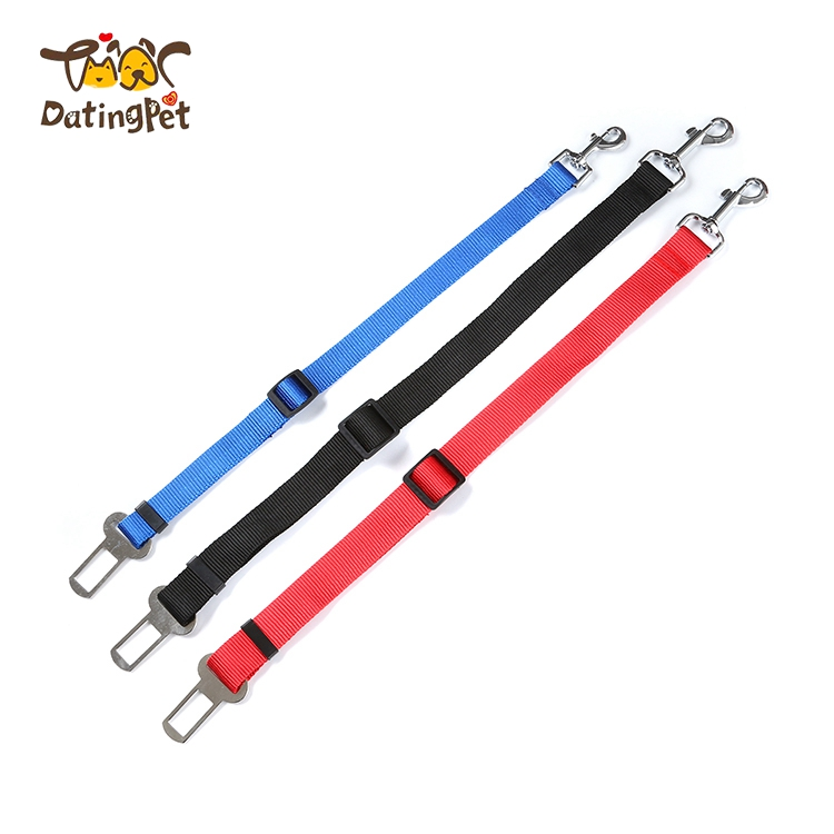 Customized pet car seat belts durable dog collar leashes
