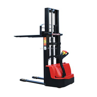 1 ton used economic walkie type electric pallet stacker with battery charger