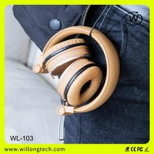communication earphone custom logo brand name stereo headphones for sport