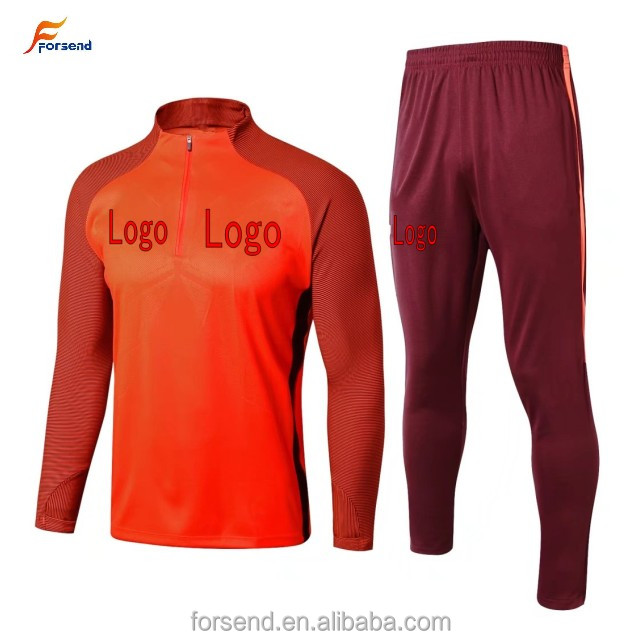 <strong>17</strong>/18 season football long Tracksuit Orange color sports training soccer swaersport tracksuit