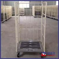 Warehouse Storage Foldable Security Wire Mesh Roll Pallet Cage