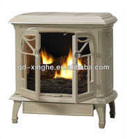 OEM decor flame electric fireplace stove antique portable cast iron stove foundry