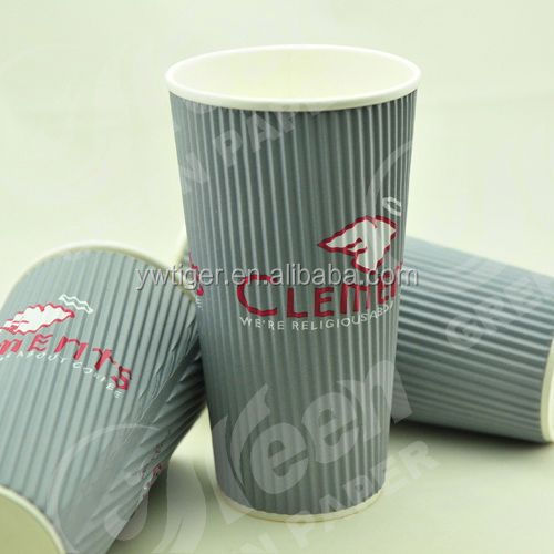 espresso paper cups,ripped wall hot coffee paper cup,ribbed paper cup