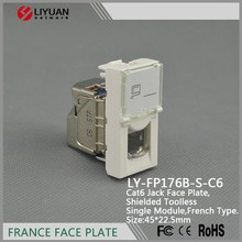LY-FP176B-S-C6 Network Cable Toolless Face Plate with stp legrand keystone jack