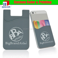 silicone mobile phone card holder/mobile card holder/smart wallet mobile card holder