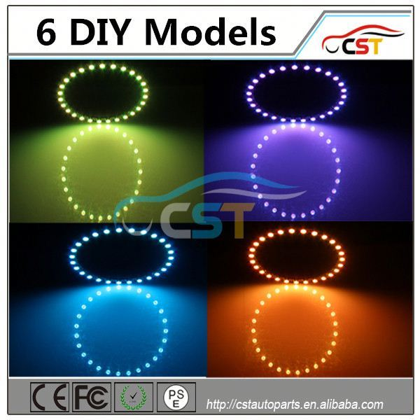 wholesale price RGB angle eyes for cars round 131mm