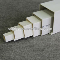 "Hot Selling Electrical White Plastic 4"" Square PVC Pipe"