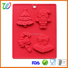Christmas gift magnetic ball silicone toblerone chocolate mould for kids