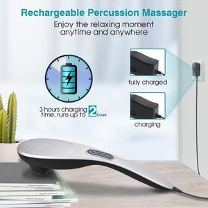 Touch control portable personal massager deep tissue back massage hand held body massage