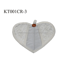 factory wholesale custom size home baking oven kitchen printed heart shaped pot holder
