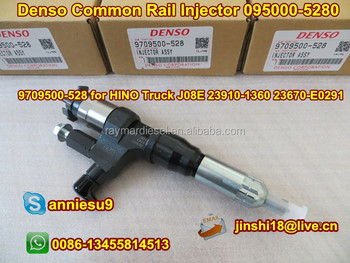 Denso Original Common Rail Injector 095000-5280 095000-5281 for HINO Truck J08E 23910-1360 23670-E0291