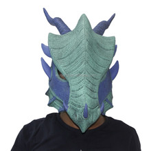 X-MERRY TOY Latex Mask Adult Green Dragon Halloween Mask x13010