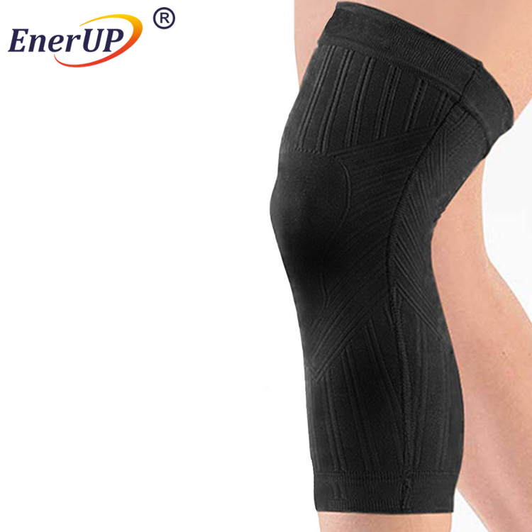elastic band copper compression knee sleeve supporter