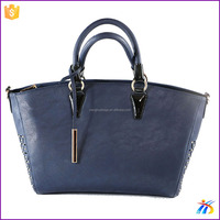 Factory blue handbag manufacturers thailand ladies bag