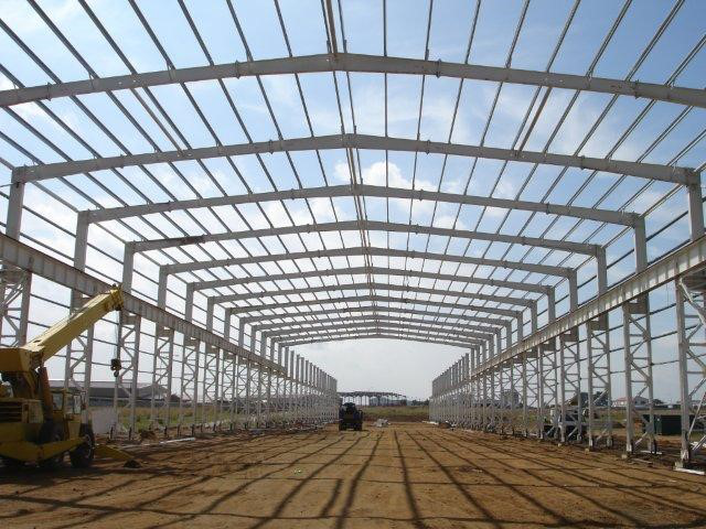 Cheap price and high quanlity steel structure buildings for gas station