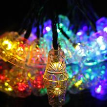 15.8 ft length black wire Solar String Lights 20 LED Waterproof Outdoor Small Bell Decoration Lighting,Holiday Festivals
