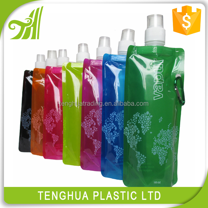 empty creative collapsible plastic pvc shakers water bottle