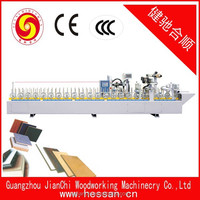PUR hot melt glue profile wrapping machine