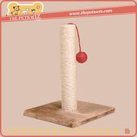 Shopping pet cat wooden scratching sisal cat tree ,p0w7m pet product