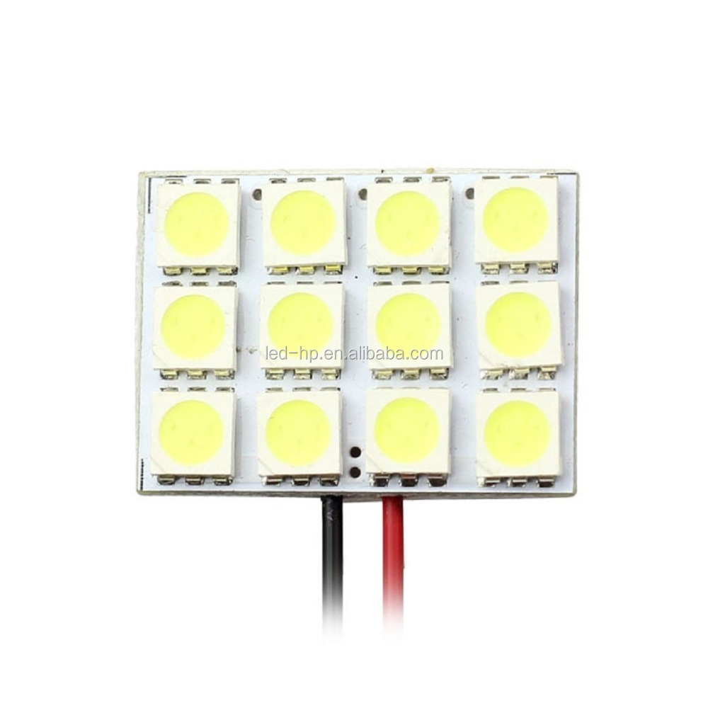 White 5050 24SMD Led Panel Dome Light Lamp Auto Car Reading Interior Lamp DC 12V