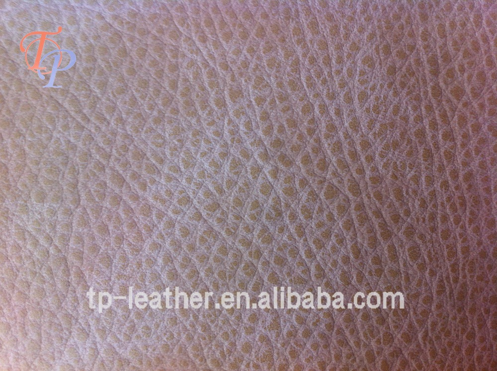1.1MM Embossed Lichi Patterns PVC Synthetic Leather For Bags And Sofa