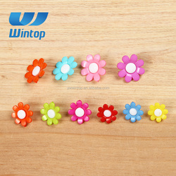 fancy colorful shank flower plastic button for children clothing