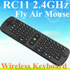 Mini Fly Air Mouse RC11 2.4GHz wireless Keyboard for google android Mini PC TV Palyer box