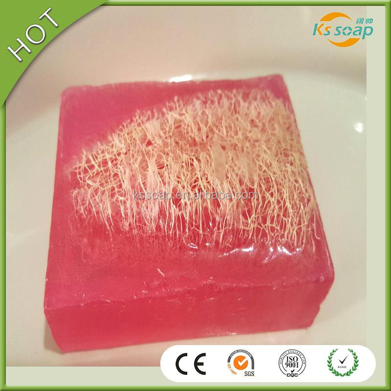 eco-friendly sweet pea luffa beauty bleaching handmade bath and body soap