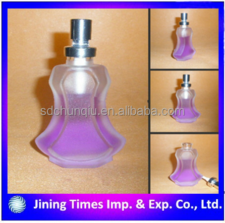 30ml violin shaped empty glass perfume bottle,frost diffuser glass perfume bottle with pump sprayer