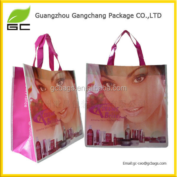 Customized Logo Printing Gift Bag Eco Friendly Reusable Polyester Shopping Bags
