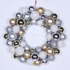 Promotional plastic christmas ball ornaments hanging wreath