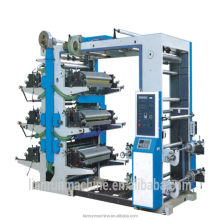 High quality 6 colour flexographic flexo label printing machine