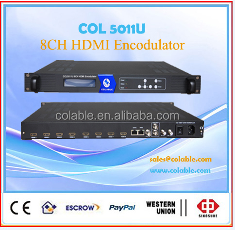 COL5011U Series 4 channels hd mi to rf modulator, encoder modulator all-in-one device