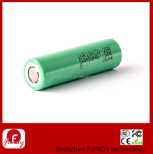 100% original 18650 2500mah 25r - INR18650-25R 20A continuous discharge 3.7v samsung inr18650 25r battery FLAT TOP