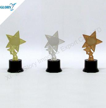 The Cheap Gold Sliver Bronze Star Plastic Trophy Cup