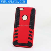 Fashion and Strong tpu(black)+pc(red) case for iphone 6